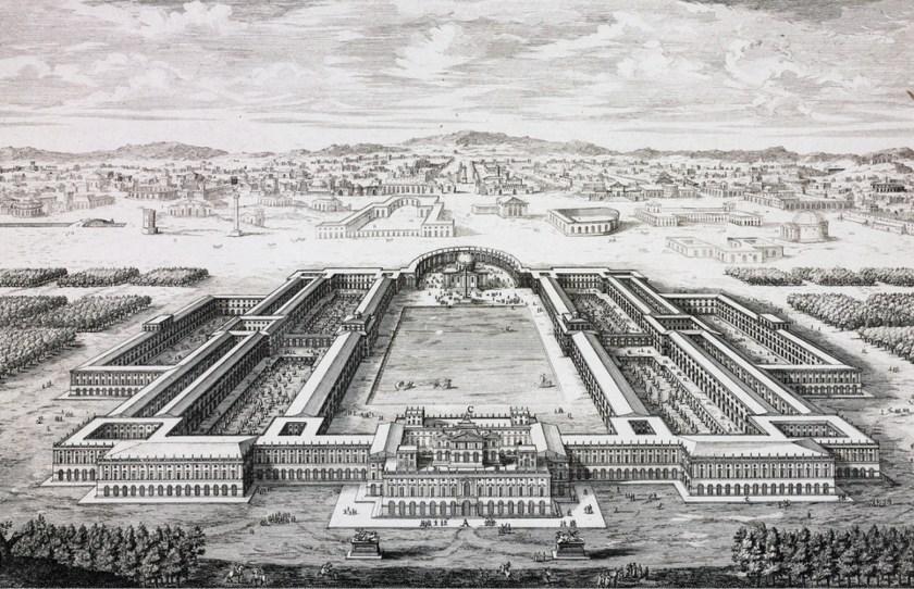 Above Nero's Domus Aurea, from an engraving by Johann Bernhard Fischer von Erlach, 1725.