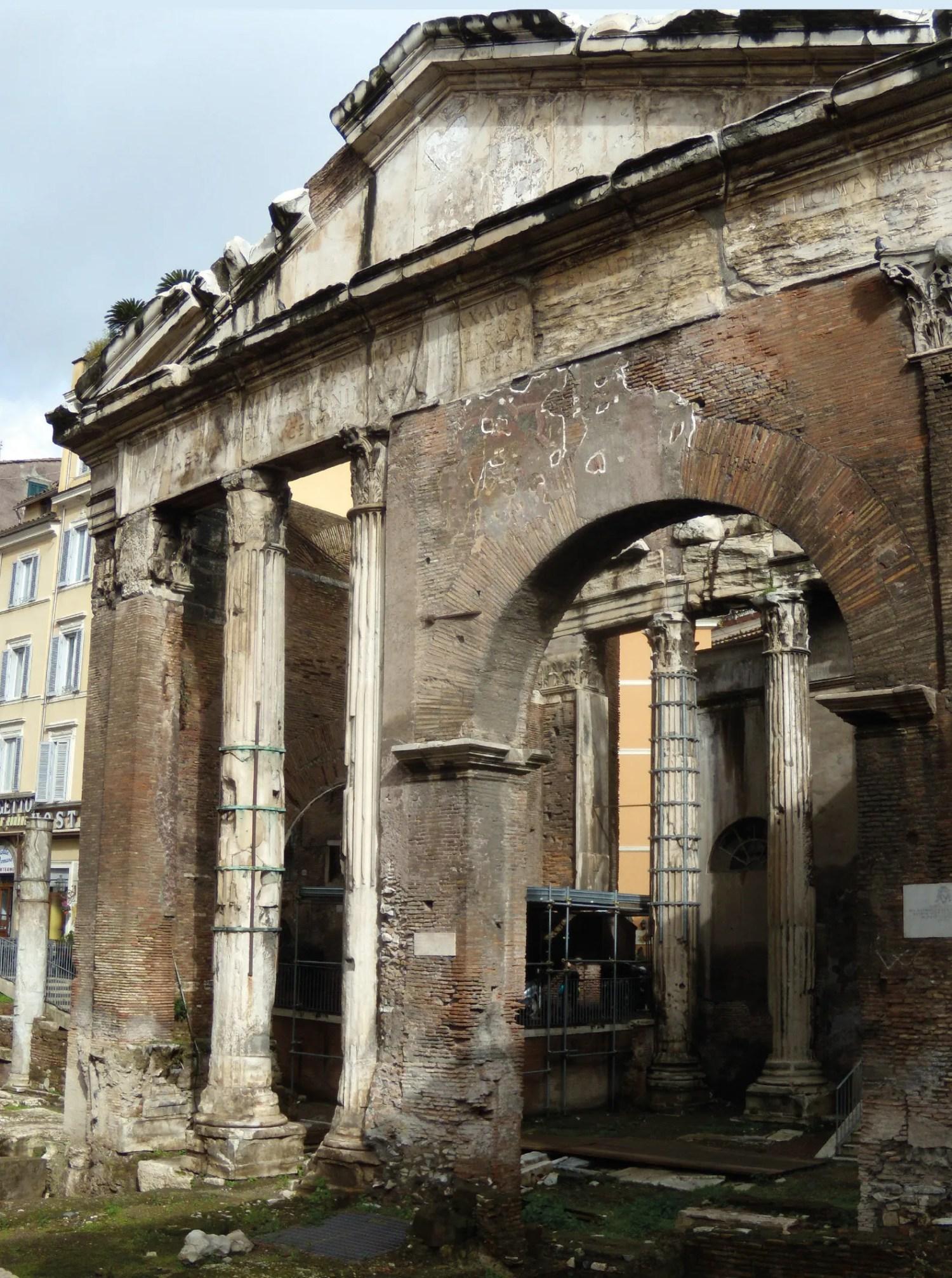 3. The monumental gateway, which was reconstructed during the Severan dynasty, (AD 193 235) is all that survives of the Porticus of Octavia, 27 25 BC. 4. Cistophoric tetradrachm with Emperor Claudius and Agrippina the Younger, exceptionally shown in the manner of joint rulers, AD 51, silver, minted in Epheseus. D. 26mm. 5. Sestertius of Agrippina the Elder, AD 42, shown as a heroic matron and, implicitly, as a victim of Tiberius, struck posthumously under Claudius, her brother-in-law. D. 32mm.