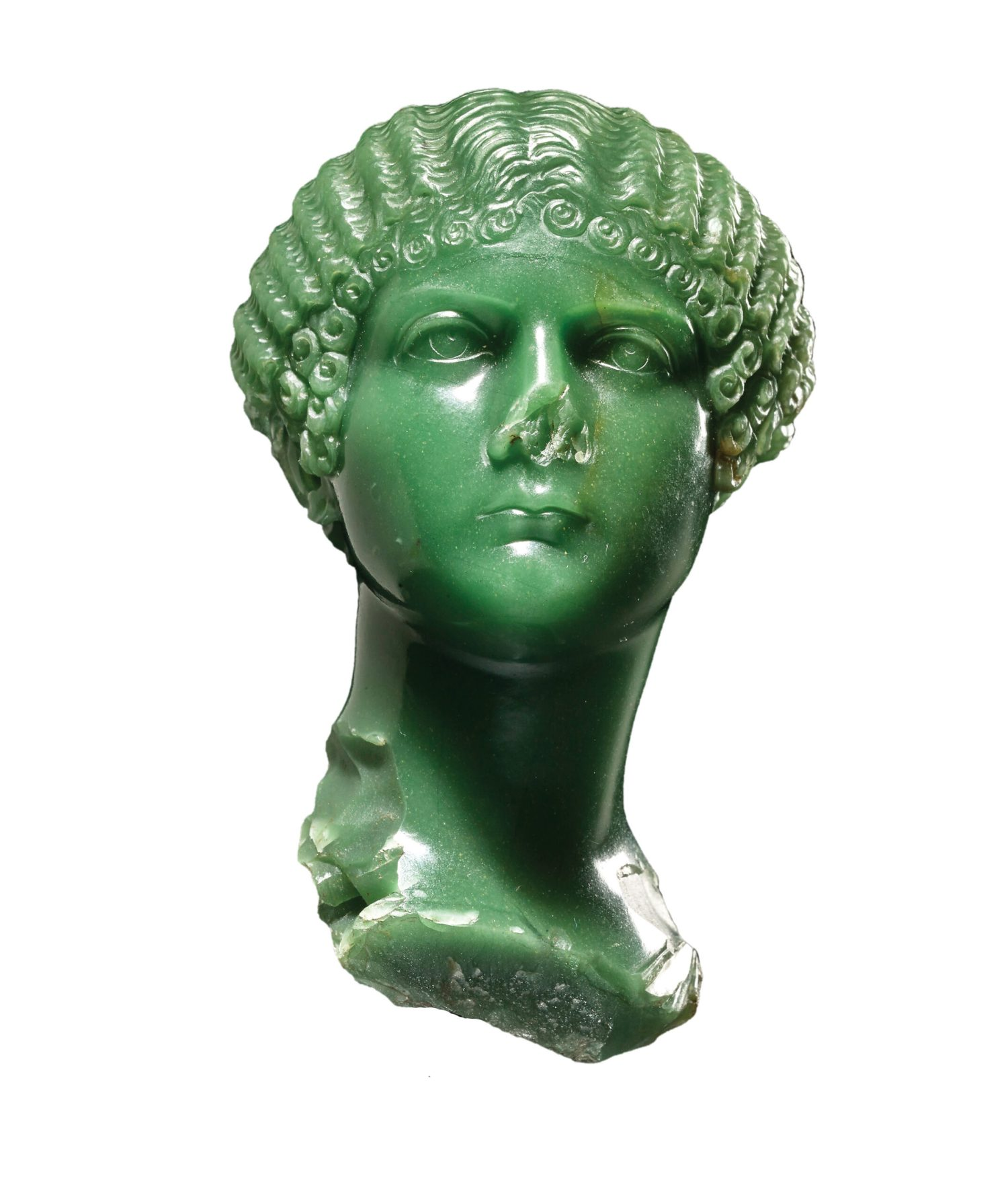 right Miniature portrait of Agrippina the Younger. Chalcedony, AD 37-39. Size: 9cm high