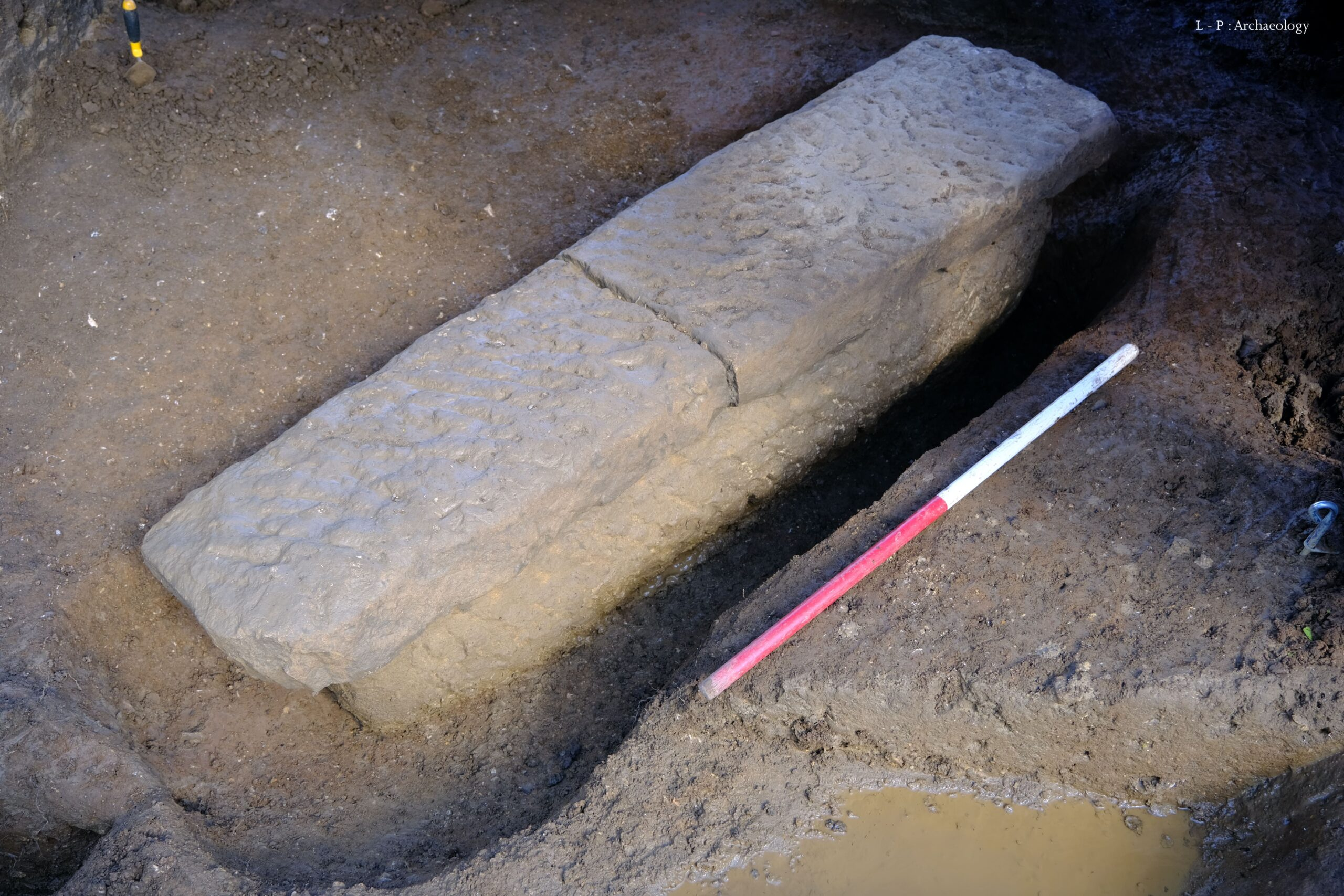 Roman sarcophagus unearthed in Bath