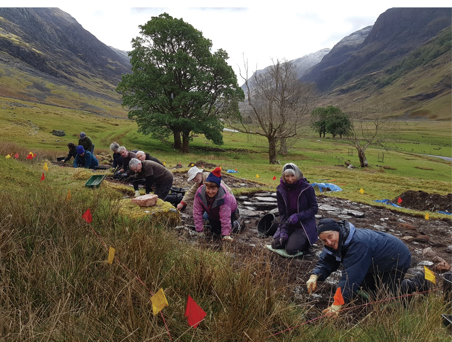 BELOW Archaeological fieldwork at Achtriachtan, Glencoe, is helping to illuminate the history of a Highland village that witnessed tragedy in the 17th century.