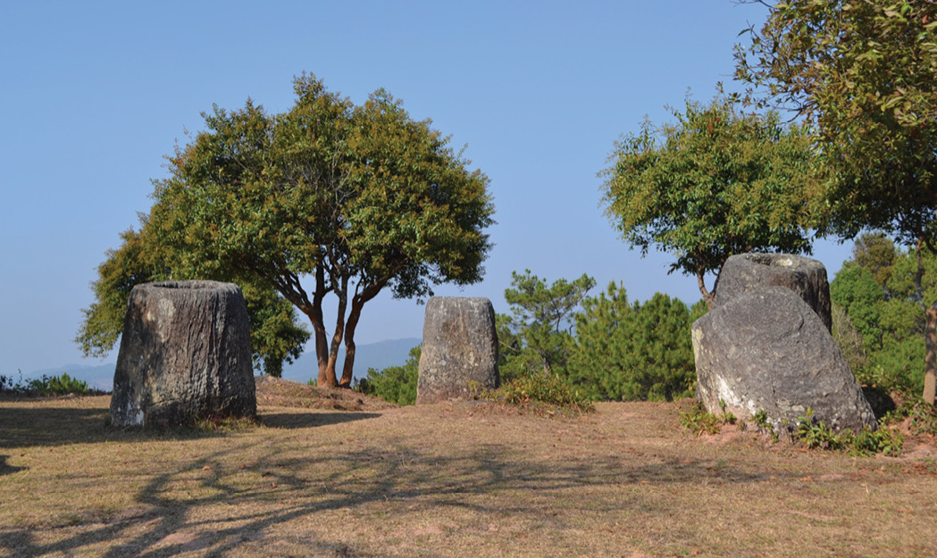 BELOW These megalithic monuments are found across an area of northern Laos known as the 'Plain of Jars'.