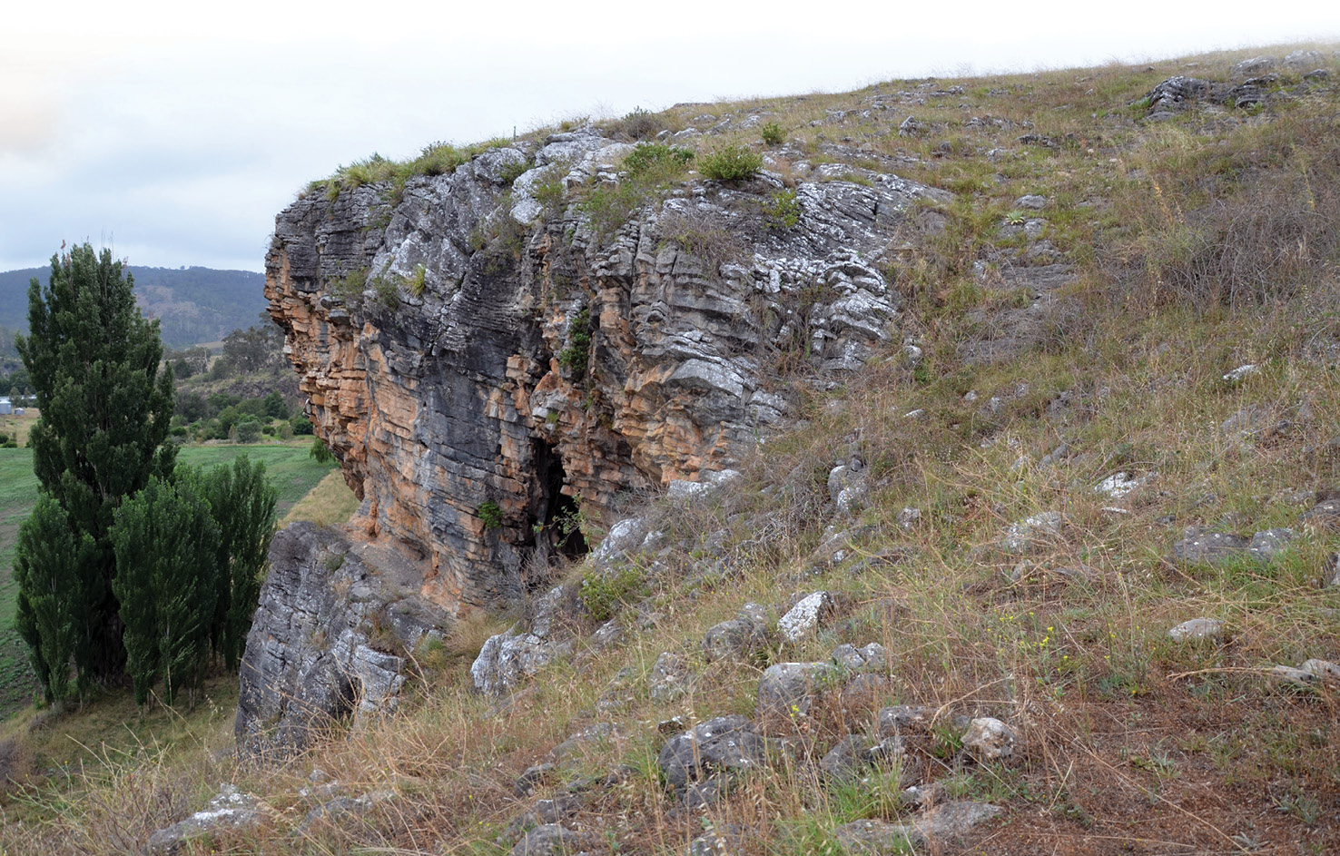 below Cloggs Cave. Fresh research at the site has transformed interpretations of this iconic site for the archaeology of Australia.