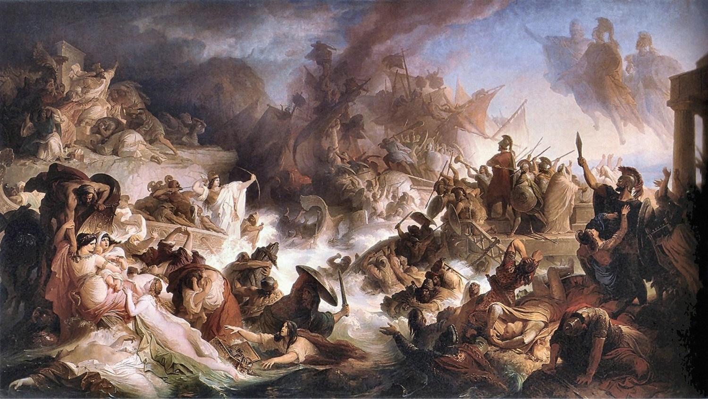 ABOVE Wilhelm von Kaulbach, The Sea Battle of Salamis. Oil on canvas, 1868.