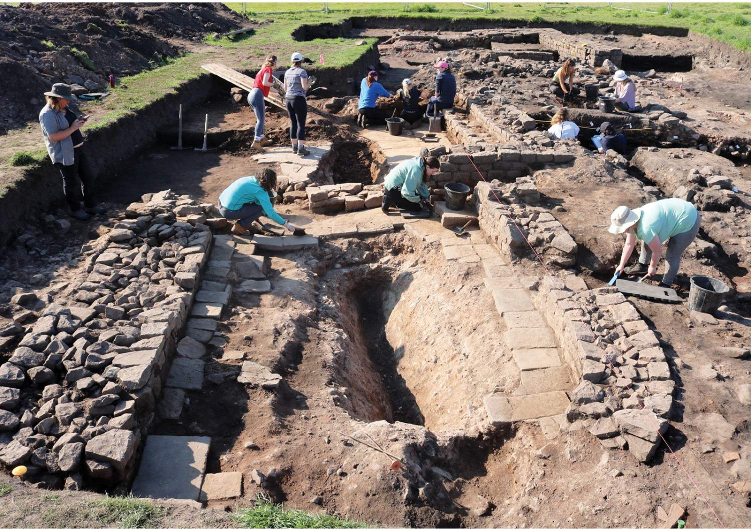 ABOVE Current Archaeology visited Birdoswald in early August, as the project's initial investigation outside the fort was coming to an end.