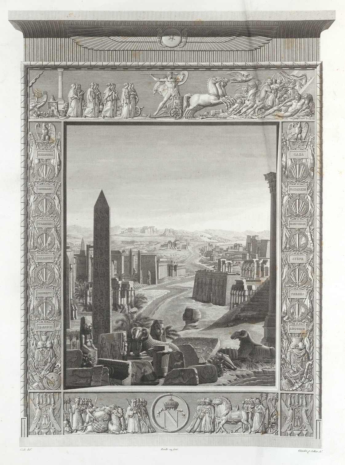 above Frontispiece to the first volume of the Napoleonic Description de l'Égypte, published in 1809.