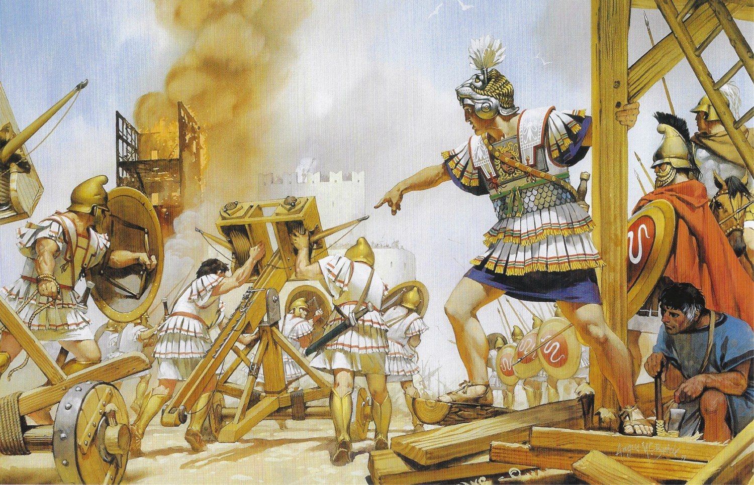 BELOW Alexander at the siege of Tyre, a long and gruelling military operation that demonstrated both his mastery of war and his primeval brutality.