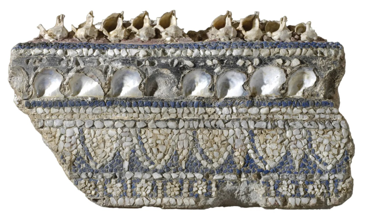 RIGHT Wall-mosaic with sea shells and glass and marble tesserae, found during work to open the Via dell'Impero. Mid 1st century AD.