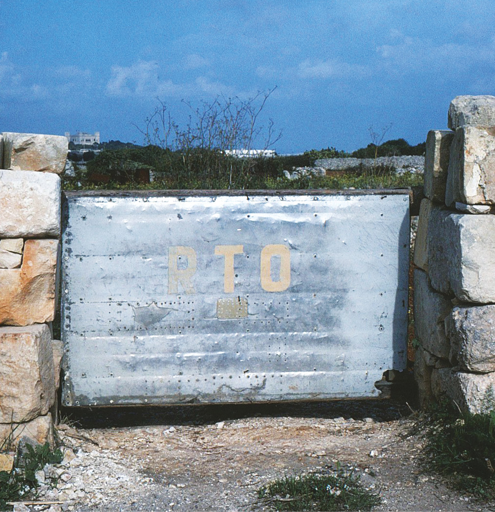 BELOW Found atop a field wall at the crash-site of Oberfeldwebel Otto Göthe, who lost his life at this location on 7 February 1942. BOTTOM A Merlin engine recovered from the sea at Marsaskala probably from a Hurricane in which Pilot Officer James Tew was shot down and killed on 1 March 1942.
