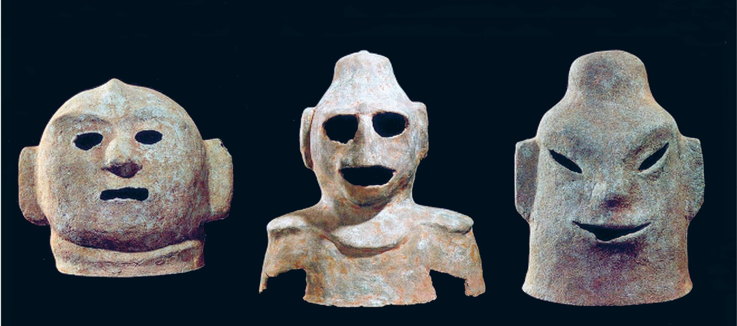 Above A selection of the Gua Made masks after cleaning.