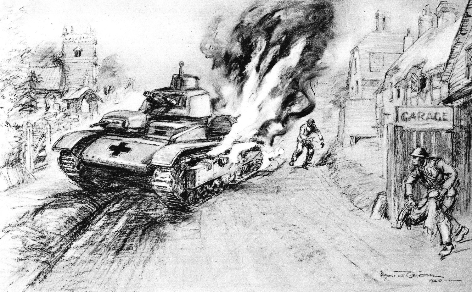 ABOVE The Home Guard attacks a German tank with Molotov cocktails. Picture Post liked the idea. Churchill did not. Ironside was sacked for his 'amateurish' improvisations.