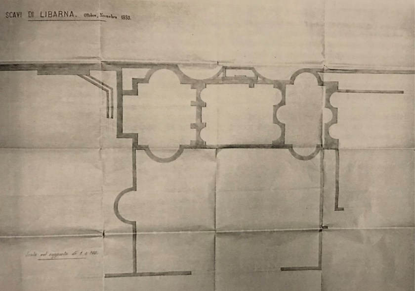 above Comparing Capurro's sketch of the bath complex (left) with the LULP's GPR findings (right) demonstrates the accuracy of his work.