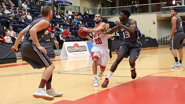 Men's basketball dominates in first exhibition game   The Peak