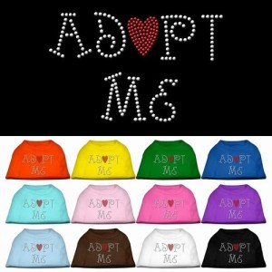 Adopt Me Rhinestone Dog Shirt | The Pet Boutique