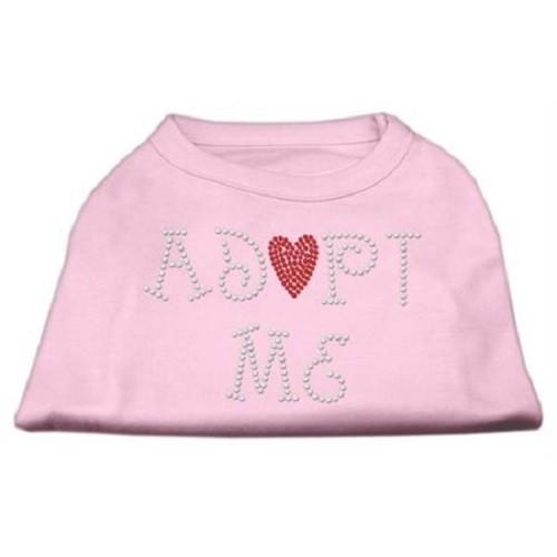 Adopt Me Rhinestone Dog Shirt - Light Pink | The Pet Boutique