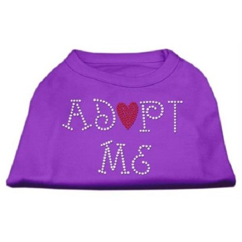 Adopt Me Rhinestone Dog Shirt - Purple | The Pet Boutique