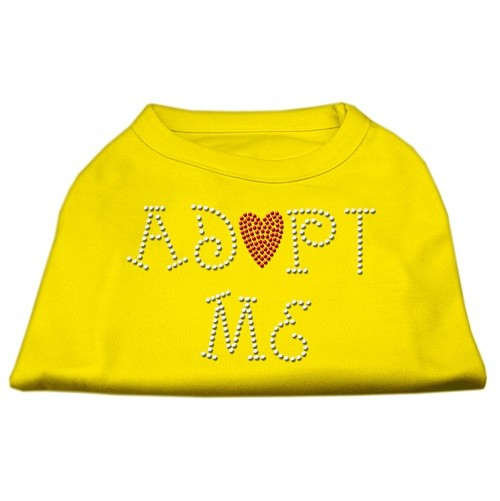 Adopt Me Rhinestone Dog Shirt - Yellow | The Pet Boutique