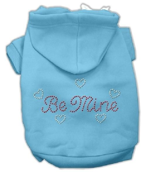 Be Mine Rhinestone Dog Hoodie - Baby Blue   The Pet Boutique