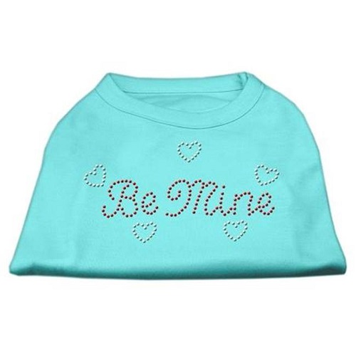 Be Mine Rhinestone Dog Shirt - Aqua | The Pet Boutique
