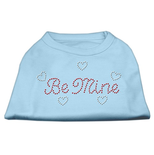 Be Mine Rhinestone Dog Shirt - Baby Blue | The Pet Boutique