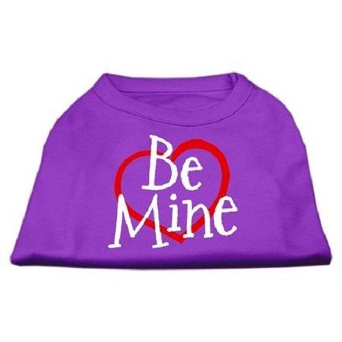Be Mine Screen Print Dog Shirt - Purple | The Pet Boutique