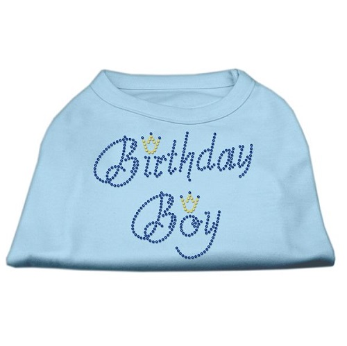 Birthday Boy Rhinestone Dog Shirt - Baby Blue | The Pet Boutique