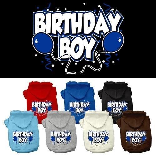 Birthday Boy Screen Print Pet Hoodie | The Pet Boutique