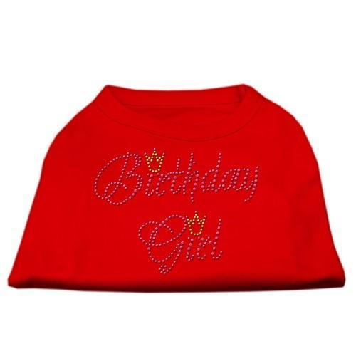 Birthday Girl Rhinestone Dog Shirt - Red   The Pet Boutique