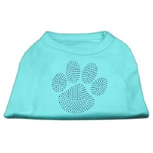 Blue Paw Rhinestud Dog Tank Top - Aqua | The Pet Boutique