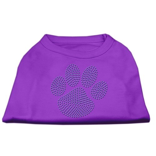 Blue Paw Rhinestud Dog Tank Top - Purple | The Pet Boutique