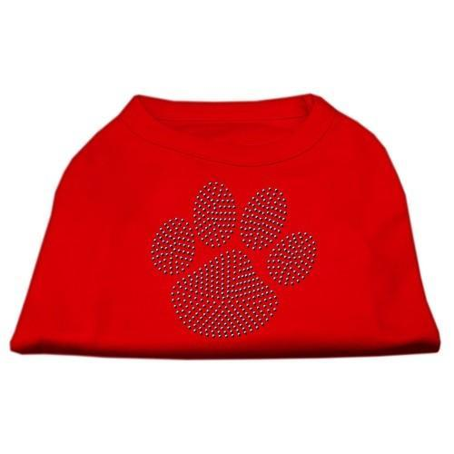 Blue Paw Rhinestud Dog Tank Top - Red | The Pet Boutique