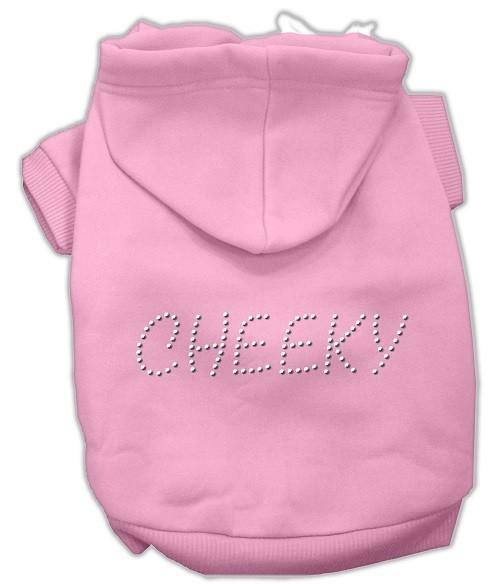 Cheeky Rhinestone Dog Hoodie - Pink | The Pet Boutique