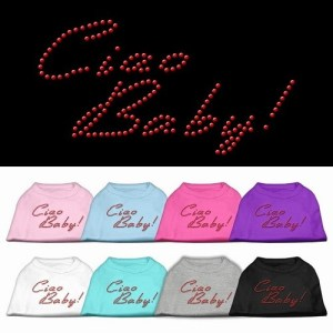 Ciao Baby Rhinestone Dog Shirt | The Pet Boutique