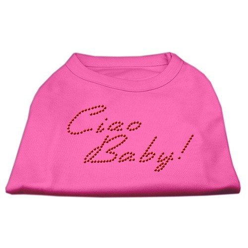 Ciao Baby Rhinestone Dog Shirt - Bright Pink | The Pet Boutique