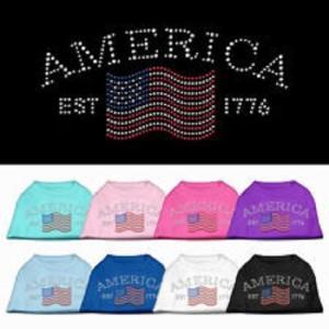 Classic American Rhinestone Dog Shirt | The Pet Boutique