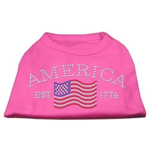 Classic American Rhinestone Dog Shirt - Bright Pink | The Pet Boutique