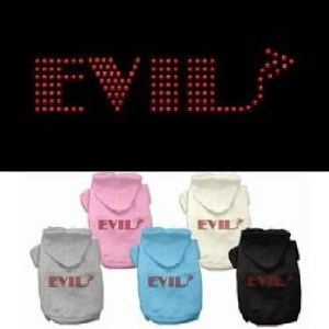 Evil Rhinestone Dog Hoodie | The Pet Boutique