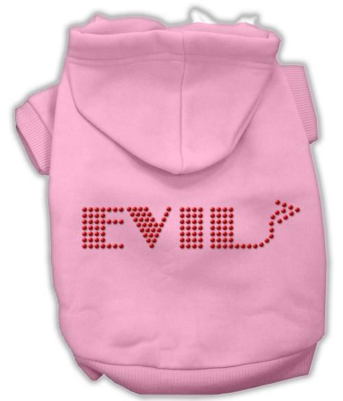 Evil Rhinestone Dog Hoodie - Pink | The Pet Boutique