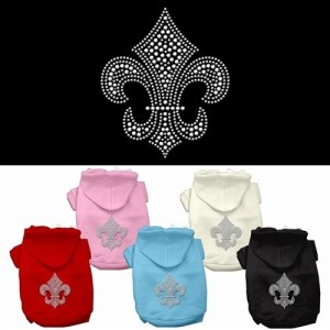 Fleur de Lis Rhinestone Dog Hoodie | The Pet Boutique