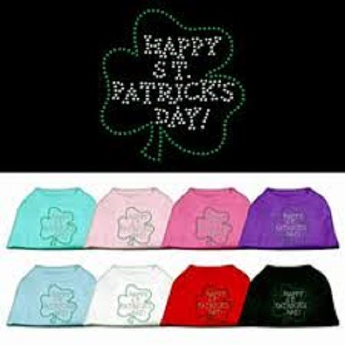 Happy St. Patrick's Day Rhinestone Dog Shirt | The Pet Boutique