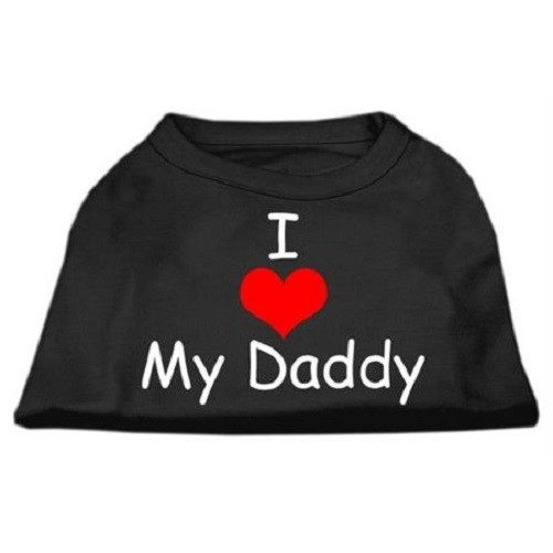 I Love My Daddy Screen Print Dog Shirt - Black | The Pet Boutique