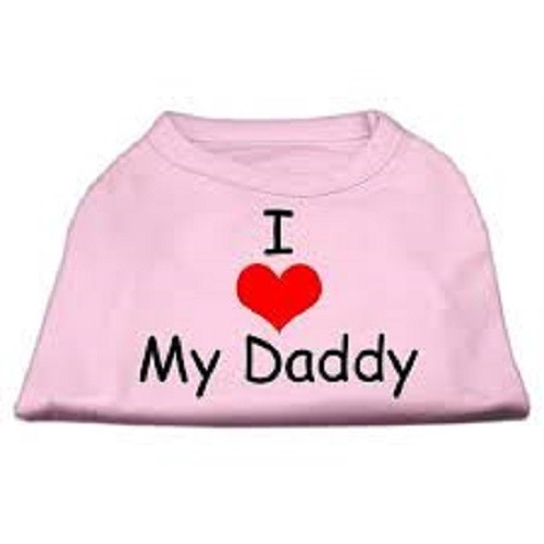 I Love My Daddy Screen Print Dog Shirt - Pink | The Pet Boutique