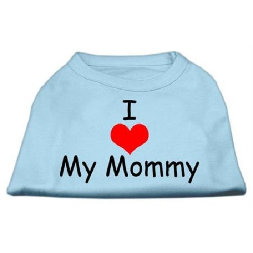 I Love My Mommy Screen Print Dog Shirt - Baby Blue | The Pet Boutique