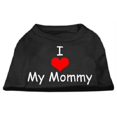 I Love My Mommy Screen Print Dog Shirt - Black | The Pet Boutique