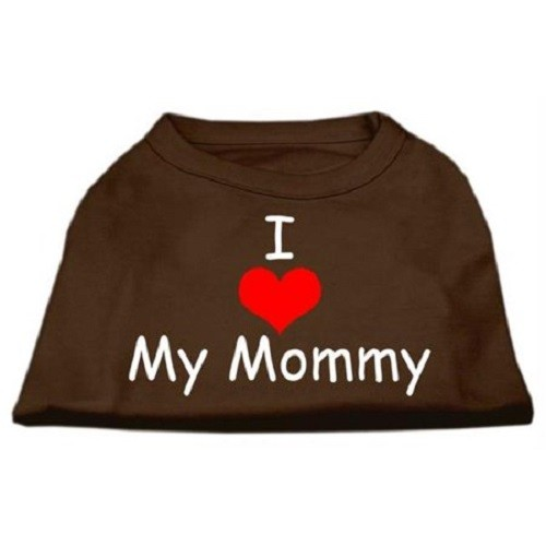I Love My Mommy Screen Print Dog Shirt - Brown | The Pet Boutique