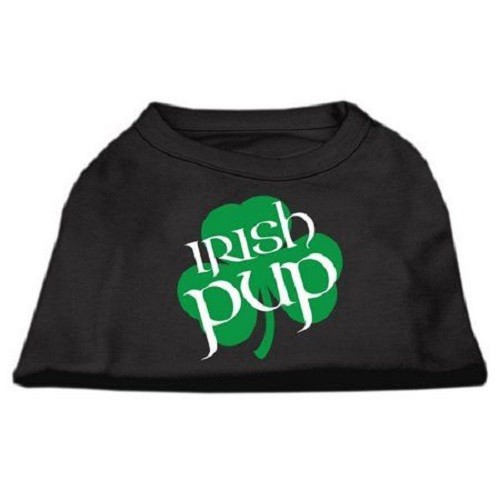 Irish Pup Screen Print Dog Shirt - Black | The Pet Boutique