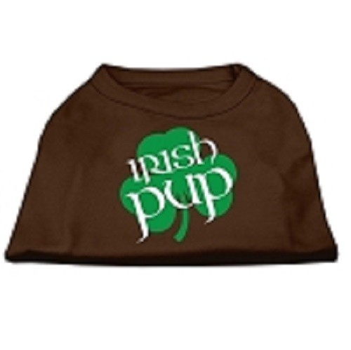 Irish Pup Screen Print Dog Shirt - Brown | The Pet Boutique