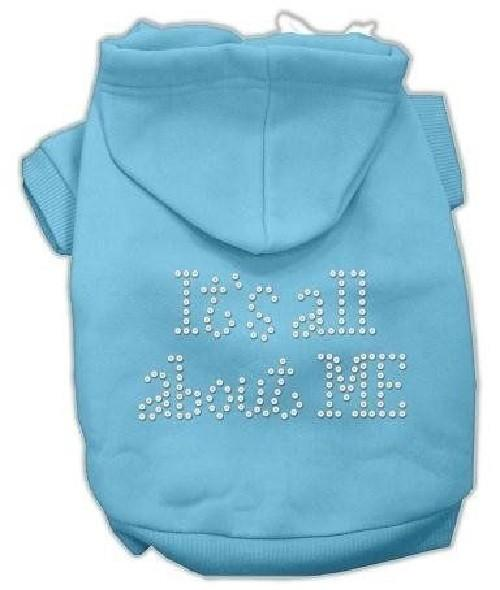 It's All About Me Rhinestone Dog Hoodie - Baby Blue   The Pet Boutique