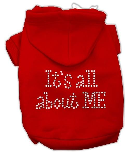 It's All About Me Rhinestone Dog Hoodie - Red   The Pet Boutique