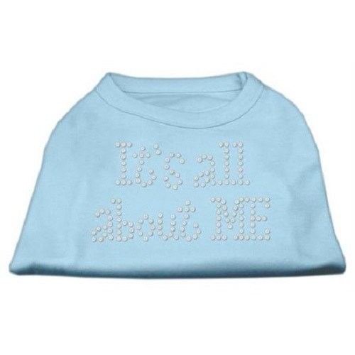 It's All About Me Rhinestone Dog Shirt - Baby Blue | The Pet Boutique